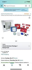 New Philips Heartstart Ready Pack Defibrillator Business Package With Carry Case