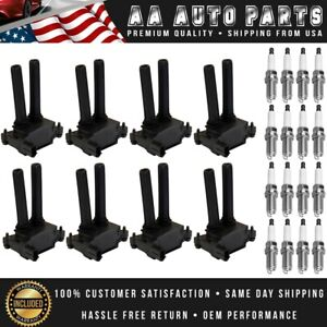 Set Of 8 Ignition Coils 16 Spark Plugs For Dodge Ram Charger Challenger Uf504