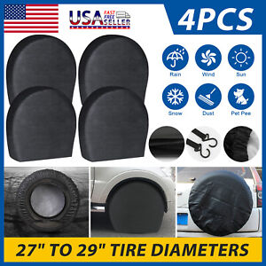 27 29 Waterproof Wheel Tire Covers Sun Protector For Truck Car Rv Trailer Suv