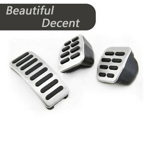 3x Car Mt Pedal Cover Brake For Volkswagen Vw Bora Jetta Golfmk4 Polo 1998 2004