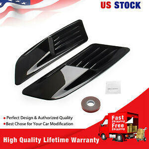 Front Hood Air Vent Molding Cover Trim For Ford Mustang 2015 2017 Blk