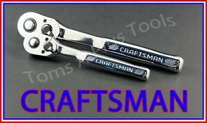 Craftsman Tools 2pc 1 4 3 8 Full Polish 72 Tooth Ratchet Socket Wrench Set