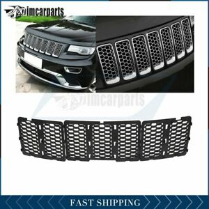 For 14 2016 Jeep Grand Cherokee Grill Grille Front Cover Black W Mesh X3