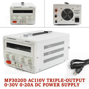Lab Power Supply Regulated 60hz Ac110v Mp3020d Switching Led Variable 0 20a New