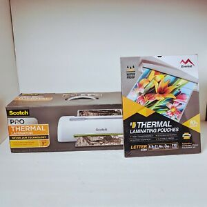 Scotch 9 Pro Thermal Never Jam Laminator Tl906 Everest Laminating Pouches New
