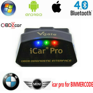 Vgate Icar Pro Bluetooth 4 0 Obd2 Adapter Bimmercode Bmw Coding For Android Ios