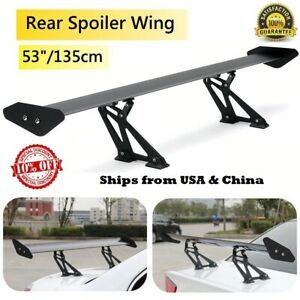 135cm Universal Racing Sports Car Rear Tail Trunk Racing Wing Spoiler Aluminum