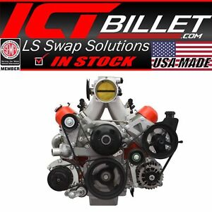Ls Truck Saginaw Power Steering Pump Alternator Bracket Kit Lsx 4 8l 5 3l 6 0l
