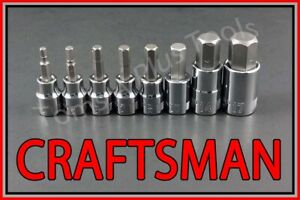 Craftsman Hand Tools 8pc 3 8 1 2 Metric Mm Hex Allen Key Bit Ratchet Socket Set