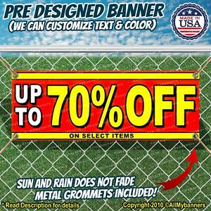 Up To 70 Off On Select Items Advertising Vinyl Banner Flag Sign Many Sizes Sale