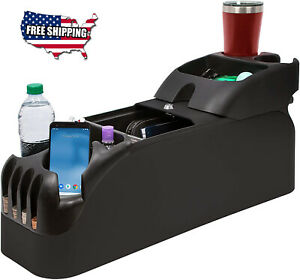 Universal Center Car Console Bin Organizer Truck Cup Holder Minivan Auto Storage