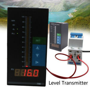 4 20 Ma Level Transmitter Water Liquid Level Sensor Digital Control Instrument