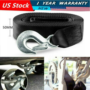 6mx50mm Heavy Duty Boat Jet Ski Tow Rope Cable Winch Strap With Swivel Hook Us