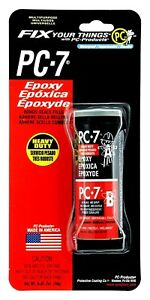 Pc 7 Two part Heavy Duty Multipurpose Epoxy Charcoal Gray 2 Oz In Two Jars