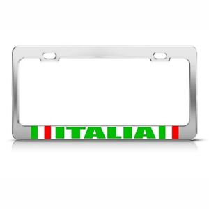License Plate Frame Italian Flag Italia Heavy Duty Country Car Accessories