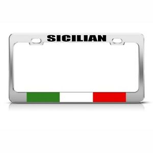 License Plate Frame Sicilian Italian Italy Sicily Country Car Accessories