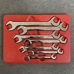 Snap On Vs807b 7 piece Open End 4 Way Angle Head Wrench Set W tray
