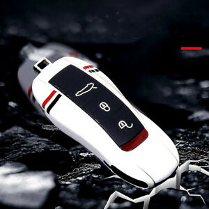Remote Smart Car Key Case Cover Keychain For Porsche Macan Cayenne Panamera 911