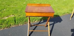 Antique Child S Folding Desk Easy To Store Paris Mfg Co Maine
