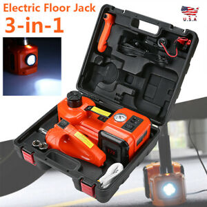 5t 12v 3 in 1 Auto Car Electric Hydraulic Floor Jack Lift With Impact Wrench Set