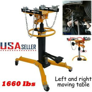 1660lbs Transmission Jack 2 Stage Hydraulic W 360 For Engine Lift 0 75ton Car