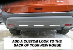 Lower Rear Bumper Chrome Insert Strips Fit 2021 To 2023 Nissan Rogue
