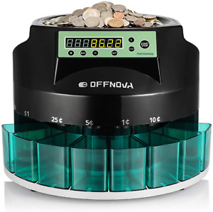 Coin Sorter Counter Machine Electric Automatic Digital Led Counting All Us Coins