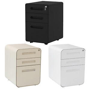 3 drawer Filing Cabinet Anti tilt Office Vertical File Cabinet Storage With Key