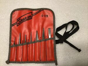 Nice Vintage Snap On Punch And Chisel 7pc Set C 72b With Case