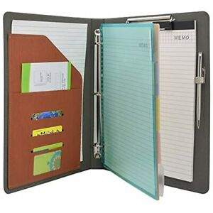Binder Padfolio Organizer With Color File Folders Business And Interview 3 ring