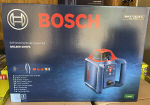 Brand New Bosch Grl800 20hvk Self leveling Rotary Laser Kit Level 800ft 3 16