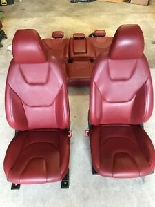 2013 2016 Ford Fusion Red Leather Front Driver Passenger Rear Seats