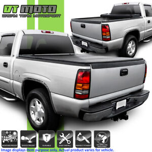 Hard Tri fold Tonneau Cover For 99 06 Chevy Silverado Sierra 6 5ft Fleetside Bed