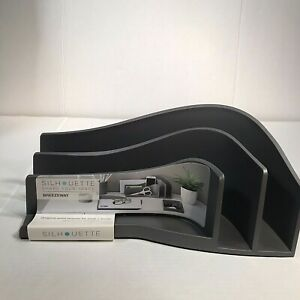 Silhouette Breezeway Office Desk Tray Gray Organizer In A Cool Style New