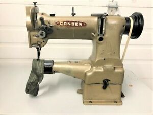 Consew 227r Cylinder Bed Walking Foot Reverse 110 Volt Industrial Sewing Machine