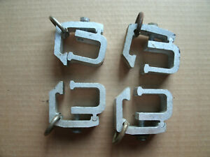 4 Qty Truck Cap Topper Camper Mounting Clamps With D Ring Aluminum Clamps