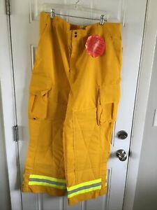Yellow Nomex Pants Barrier Wear Wildland Forestry Firefighting Nwt 3 Xl 30