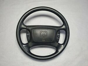 2001 2004 Dodge Dakota Steering Wheel Oem Black W Cruise Controls