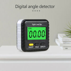 360 Magnetic Digital Inclinometer Level Box Angle Meter Finder Protractor Tool