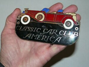 Vtg Classic Car Club Of America Enamel Badge License Plate Topper Emblem Packard
