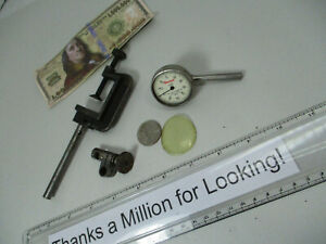 Starrett 196 Dial Indicator Back Plunge W Clamp Height Gage Snug Vgc