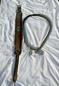 Vintage Klein buhrke Lineman s Pole Climbing Gear With Belt Model S 5266 n