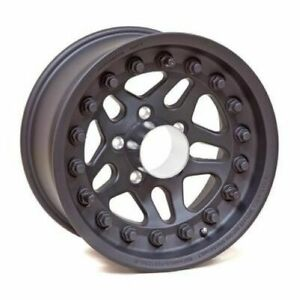 Hutchinson 60636 017 01 Rock Monster D o t Beadlock 17x8 5 Rim Wheel Black New