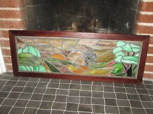 Antique Stained Glass Transom Window Beautiful Landscape Design