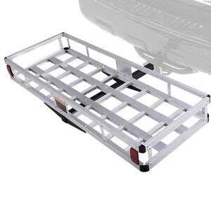 500lbs Hitch Mount Cargo Carrier Car Truck Luggage Basket Rack Fits 2 Receiver
