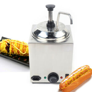 2 6 Qt Electric Nacho Cheese Sauce Warmer Dispenser Stainless Steel 30 110 650w