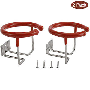 2x Universal Boat Marine Ring Cup Drink Holder Stand For Yacht Rv Truck W Screw