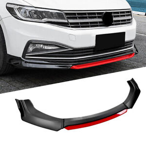 Universal Car Front Bumper Lip Spoiler Splitter Protector Black 2 Layer Lip Matt $49.99
