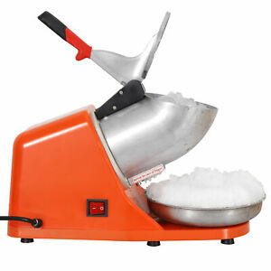 Tabletop Electric Ice Crusher Shaver For Icee Snow Cone Maker At Home 143lbs