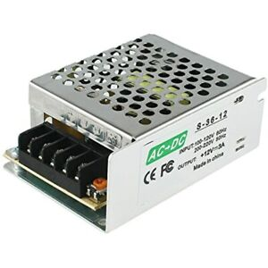 Switching Power Supply 12v Dc 3a 36w Led Driver Universal Regulated Ac To 12v